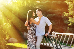 Couple in love - outdoor portrait Royalty Free Stock Photos