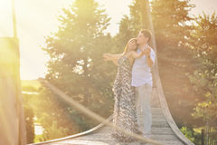 Couple in love - outdoor portrait Stock Image