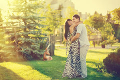 Couple in love - outdoor portrait Stock Photography