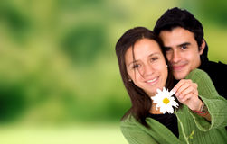 Couple in love - outdoors Royalty Free Stock Image