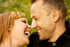 Couple in love outdoors Royalty Free Stock Photography