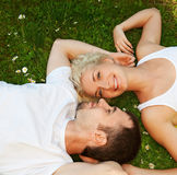 Couple in love outdoors Stock Photography