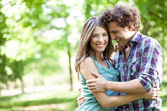 Couple in Love Outdoors Royalty Free Stock Images