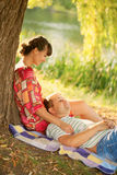 Couple in love outdoors. Summer holidays. Royalty Free Stock Photos