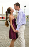 Couple in love in Paris Stock Images