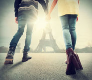 Couple in love in Paris Stock Photography