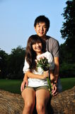 Couple In Love In The park Stock Photo