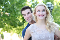 Couple in Love in Park stock photography