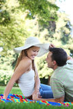 Couple in Love in the Park Stock Image