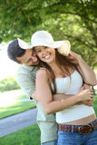 Couple in Love in the Park Royalty Free Stock Photos