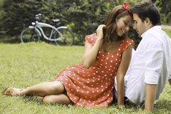Couple in love in the park Royalty Free Stock Photography