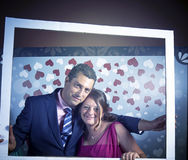 Couple in love photocall. Couple in love at wedding photocall, party Royalty Free Stock Photo