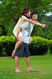 Couple in Love on piggy back 2 Stock Images