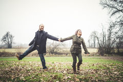 Couple in love playing Stock Photos