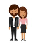 Couple love relationship icon Royalty Free Stock Image