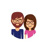 Couple love relationship icon Stock Images