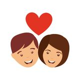 Couple love relationship icon Stock Image