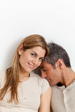 Couple in love resting in the bed Stock Images