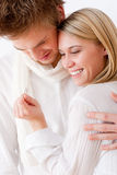 Couple in love - romantic engagement ring Stock Photography