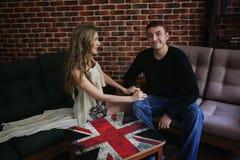 Couple love romantic room Royalty Free Stock Image