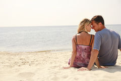 Couple in love on  the sea Royalty Free Stock Images