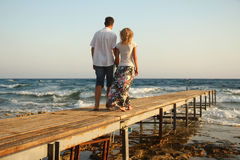 Couple in love on  the sea Royalty Free Stock Photo