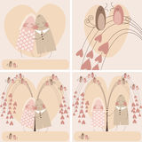 Couple in love. set valentine day Royalty Free Stock Image