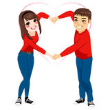 Couple Love Shape Arms Royalty Free Stock Images