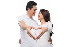 Couple in love showing Heart Royalty Free Stock Photography