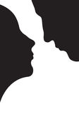 Couple in love,  silhouette Stock Image