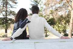 Couple in love sitting Stock Photos