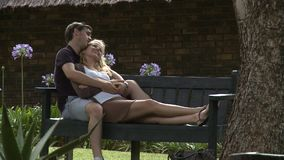 Couple in love stock video footage