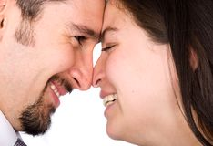 Couple in love smiling Royalty Free Stock Photos