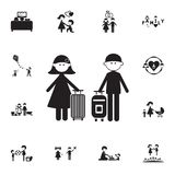 couple in love with suitcases icon. Detailed set of Family icons. Premium quality graphic design sign. One of the collection icons vector illustration