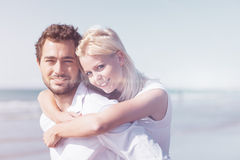 Couple in love on summer beach vacation Stock Photo