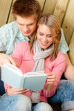Couple in love - summer portrait with book Stock Image