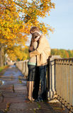 Couple in love tenderly hugging Royalty Free Stock Images