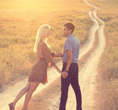 Couple in love together in summer time Stock Image