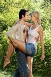 Couple in love under rain Royalty Free Stock Photos