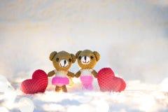 Couple love valentine  bears. Stock Photo