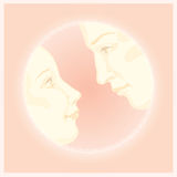 Couple in love valentine greeting card design Stock Images