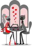 Couple in love, on Valentine's Day card,vector Stock Photos