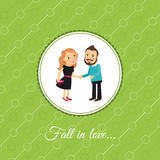 Couple in love valintines day card  Stock Photos