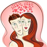 couple love vector Royalty Free Stock Image
