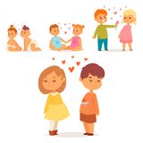 Couple in love vector characters togetherness happy smiling people romantic woman amorousness together adult. Relationship. Female lifestyle beautiful happiness Stock Photography