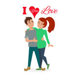 Couple in love vector. Royalty Free Stock Photography