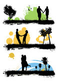 Couple love vector set Royalty Free Stock Photo