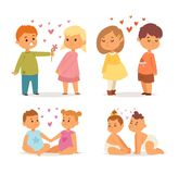 Couple in love vector set. Happy smiling couple in love vector characters togetherness. Romantic woman together adult relationship. Female lifestyle beautiful Royalty Free Stock Image