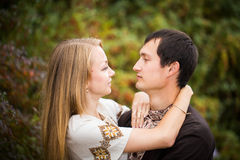 Couple love walk Royalty Free Stock Photography