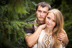 Couple love walk Stock Photography